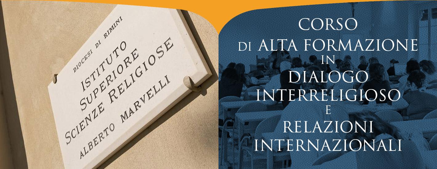 Corso di Alta Formazione in Dialogo Interreligioso e Relazioni Internazionali
